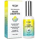 Luv Me Care Biotin Hair Growth Oil Hair Growth Serum for Thicker Longer Fuller Healthier Hair, Prevent Hair Loss & Thinning, All Natural Vitamin Rich Treatment, Women & Men, All Hair Types 1.7 oz
