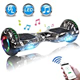 UNI-SUN Bluetooth Hoverboard for Kids, 6.5' Two-Wheel Self Balancing Hoverboard with Bluetooth and LED Lights, Electric Scooter for Adult with UL 2272 Certified and Carry Bag(Tires)