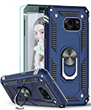 Samsung Galaxy S7 Case with [2 Pack] Tempered Glass Screen Protector, LeYi [Military-Grade] Defender Protective Phone Cover Case with Magnetic Car Mount Holder Kickstand for Samsung S7, JSFS Blue