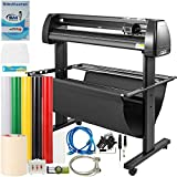 VEVOR Vinyl Cutter 34Inch Bundle, Vinyl Cutter Machine Manual Vinyl Printer LCD Display Plotter Cutter Sign Cutting with Signmaster Software for Design and Cut,with Supplies, Tools