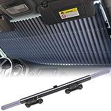 KINGMAZI Car Windshield Sun Shade, Retractable Sun Shade, Sunshade to Keep Your Vehicle Cool and Damage Free, UV Sun and Heat Reflector, Easy to Use, 2020 New