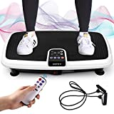 INTEY Vibration Plate Exercise Machine, 6 in 1 Multifunction Vibration Fitness Platform, Quiet Non Slip, 20 Speed Levels Equivalent to 99 Speed Levels