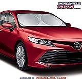 Car Windshield Sun Shade - True 210T Ultra Reflective Fabric for Maximum UV and Sun Protection - Car Shade Windshield - Windshield Protector - Sunshade for Car Windshield - (Large (63' x 35'))