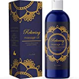 Pure Sensual Massage Oil Stress Reliever for Women and Men with Essential Oils Lavender Oil Rosemary Oil Jojoba Oil Sweet Almond Oil Romantic Detox Relaxing Massage for Sore Muscles and Joint Relief