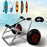 MorTime 27' Heavy Duty Kayak Cart, Universal Kayak Carrier for Floats, Kayak Tote Trolley Transport for Carrying Canoes