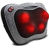 VIKTOR JURGEN Back Massager, Neck Massager with Heat, Massage Pillow Gifts for Men & Women, Electric Shiatsu Back Massager, Deep Kneading Shoulder Massager for Full Body Muscle,Massage at Home, Car