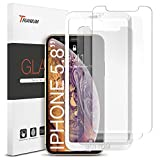 Trianium (3 Packs) Screen Protector Designed for Apple iPhone 11 Pro, iPhone XS, iPhone X 2019 2018 2017 Premium HD CLARITY 0.25mm Tempered Glass Screen Protector with Alignment Case Frame (3-Pack)