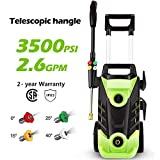 Homdox 3500 PSI Electric Pressure Washer, 2.6 GPM Electric Power Washer, 1800W High Pressure Washer, Professional Washer Cleaner with 4 Nozzles (Green)