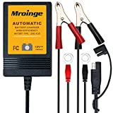 Mroinge MBC010 Automotive Trickle Battery Charger Maintainer 12V 1A Smart Automatic Battery Chargers for Car Motorcycle Boat Lawn Mower Sla Atv Wet Agm Gel Cell Lead Acid Batteries
