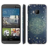 Zodiac Constellation - Slim Clip-on Phone Case Cover for [HTC One M9] Includes [Ultra Clear Screen Protector]