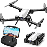 SIMREX X900 Drone Optical Flow Positioning RC Quadcopter with 1080P HD Camera, Altitude Hold Headless Mode, Foldable FPV Drones WiFi Live Video 3D Flips 6axis RTF Easy Fly Steady for Learning White
