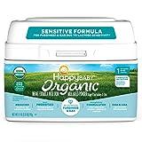 Happy Family Baby Organic Stage 1 Infant Formula Sensitive, Dual Prebiotics, Milk Based Powder, Stage 1 Sensitive, 21 Oz