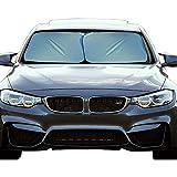 EcoNour Foldable 2-Piece Premium Car Windshield Sunshade | UV Protector Automotive Window Sunshades | Fit for Cars, SUVs, Vans, Trucks | Front Window Car Visor Accessories (Medium 28 x 31 inches)