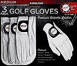 Kirkland Signature Men's Golf Gloves Premium Cabretta Leather, Medium, 3 Pack