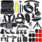 Action Camera Accessories Kit for Gopro Hero 8 7 6 5 4 3 Hero Session 5 Black SJ4000 5000 6000 Xiaomi Yi DJI AKASO Campark with Case,48 in 1