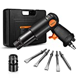 TACKLIFE Air Hammer 3500 BPM, Standard 0.4 Round Shank, Quick-Change Retainer without Removing, Anti-Slip Rubber Grip, Pneumatic Shovel Hammer with Case | TK7809