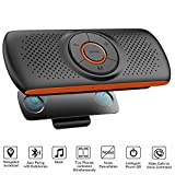 Bluetooth Handsfree Speakerphone for Cell Phone, Wireless Car Kit Music Player Adapter with Back-Clip, Portable Bluetooth Speaker for Home/Sport/Outdoor Use, Work with Siri/Google Assistant/TF Card