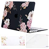 MOSISO MacBook Air 13 inch Case (A1369 & A1466, Older Version 2010-2017 Release), Plastic Pattern Hard Case&Keyboard Cover&Screen Protector Only Compatible with MacBook Air 13, Pink Peony