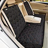 BABYLTRL Dog Car Seat Cover Waterproof Pet Bench Seat Cover Nonslip and Heavy Duty Pet Car Seat Cover for Dogs and Armrest Fits Cars, Trucks and SUVs (53' W x 48' L, Black)