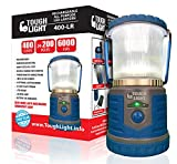 Tough Light LED Rechargeable Lantern - 200 Hours of Light from a Single Charge, Longest Lasting on Amazon! Camping and Emergency Light with Phone Charger - 2 Year Warranty (Blue)