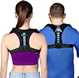 2020 New Version Posture Corrector for Women and Men- Perfect Adjustable Upper Back Brace for Clavicle Support and Providing Pain Relief from Neck Shoulder Upright Straightener Comfortable