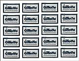 100 Gillette Platinum Blue Double Edge Safety Razor Blades, 20 x 5