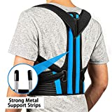 FEATOL Posture Corrector - Best Back Brace for Men & Women – Adjustable Support Brace for Pain Relief from Neck, Back & Shoulder – Please Check Sizing Chart