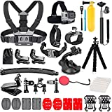 TANSUO Action Camera Accessories Kit Set for GoPro Hero 9 8 Max 7 6 5 4 Black GoPro 2018 Session Fusion Silver White Insta360 DJI SJCAM APEMAN AKASO and Others Cameras (28in1)