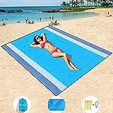 Mumu Sugar Sand Free Beach Mat Oversized 82' X79' Sand Proof Beach Blanket Outdoor Picnic Mat for Travel, Camping, Hiking and Music Festivals-Lightweight Quick Drying Heat Resistant