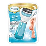 Amope Pedi Perfect Electronic Dry Foot File (Blue), Regular Coarse Roller Head with Diamond Crystals for Feet, Removes Hard and Dead Skin – 1 Count