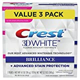 Crest 3D White Brilliance Vibrant Peppermint Toothpaste, 4.1 oz, Pack of 3