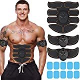 Muscle Toner Abdominal Toning Belt EMS ABS Toner Body Muscle Trainer Wireless Portable Unisex Fitness Training Gear for Abdomen/Arm/Leg Training Home Office Exercise (Orange)