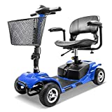 Furgle 4 Wheel Electric Scooter for Seniors Adult Power Mobility Scooter Heavy Duty Travel Scooter (Blue)