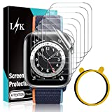 6 Pack LϟK Screen Protector Compatible for Apple Watch Series 6 44mm and Apple Watch SE 44mm Flexible TPU HD Clear with Circle Installation Tool for iWatch 6 SE 44mm