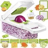 Wimaha Vegetable Chopper Dicer Onion Chopper, Pro Food Chopper Vegetable Cutter Veggie Chopper and Dicers, Vegetable Slicer and Chopper for Kitchen, Mandolin Garlic Chopper with Container