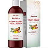 Natural Biotin Shampoo for Thinning Hair - Volumizing Shampoo for Fine Hair Care with Pure Biotin for Men and Women - Keratin Biotin Hair Shampoo for Damaged Hair and Hair Volume with Essential Oils