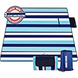 Mumu Sugar Outdoor Picnic Blanket, 3-Layer Extra Large (80'x80') Waterproof Foldable Picnic Mat - Beach Blanket Sand Proof for Camping,Park,Beach,Hiking, Family Concerts