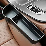 SUNMORN Car Seat Gap Organizer, Multifunctional with Cup Holder, Storage Box, NOT FIT Central Console Lower Than The Seat (Black)