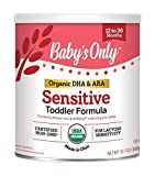Baby's Only Organic Sensitive LactoRelief with DHA & ARA Toddler Formula, 12.7 Oz (Pack of 6) Non-GMO, USDA Organic, Clean Label Project Verified, Lactose Sensitivity