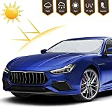 Adoric Life Car Windshield Sun Shade, Blocks UV Rays Foldable Sun Visor Protector, Sunshade to Keep Your Vehicle Cool and Damage Free,Easy to Use, Fits Windshields of Various Sizes