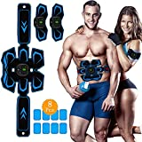 ABS Stimulator Muscle Toner,Rechargeable Ab Machine,Abdominal Muscle Stimulator, Electric Ab Stimulator for Women and Men - Effective Abdominal Trainers, Portable Fitness exercise workout equipment