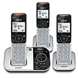VTech VS112-3 DECT 6.0 Bluetooth 3 Handset Cordless Phone for Home with Answering Machine, Call Blocking, Caller ID, Intercom and Connect to Cell (Silver & Black)