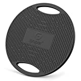 Gruper Wobble Balance Board,Exercise Balance Stability Trainer Non-Skid TPE Bump Surface & Bottom Healthy Material Portable Rocker Board for Balance Training and Exercising-Black