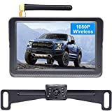 DoHonest HD 1080P Digital Wireless Backup Camera Kit, Stable Signal 5'' Monitor & Rear View Camera for Trucks,Vans,Campers, Cars, SUVs,RVs Super Night Vision IP69K Waterproof Guide Lines DIY - S23