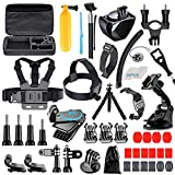 [68-in-1] Accessories Kit for GoPro HERO9 Black, HERO8 Black, GoPro MAX, Hero 9 8 7 6 5 4 3+, Session 5, Accessory Bundle Set for AKASO, APEMAN, DBPOWER, Campark, DJI OSMO, SJCAM, Sony Action Camera