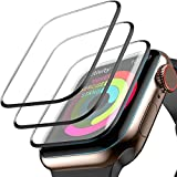 [3 Pack] Screen Protector for Apple Watch Series 3/2/1 42mm, Max Coverage Screen Protector HD Clear Anti-Bubble