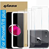 (3 Pack )Amuoc Tempered Glass Film for Apple iPhone 8 Plus Screen Protector and iPhone 7 PlusScreen Protector and iPhone 6 Plus Screen Protector,with (Easy Installation Tray) Anti Scratch, Bubble Free