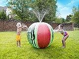 Tidal Storm Wet N' Wild Mega Melon Sprinkler Ball Over 3 FT Tall Sprinkler Ball for Kids Outdoor Play - Biodegradable PVC, Multi Color