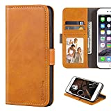 HTC One M9 Case, Leather Wallet Case with Cash & Card Slots Soft TPU Back Cover Magnet Flip Case for HTC One M9 (Yellow)