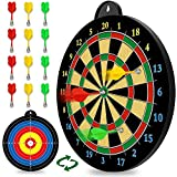Magnetic Dart Board - 12pcs Magnetic Darts (Red Green Yellow) - Excellent Indoor Game and Party Games - Magnetic Dart Board Toys Gifts for 5 6 7 8 9 10 11 12 Year Old Boy Kids